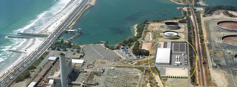 aerial view carlsbad desalination