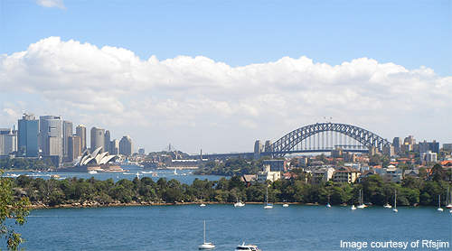 The plant is surrounded by Sydney Harbour National Park.