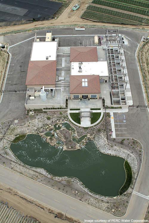 Aerial view of Santa Paula Water Recycling Facility.