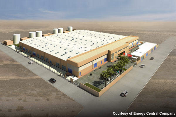 The proposed building for the Durrat Al Bahrain desalination plant and ancillary works.