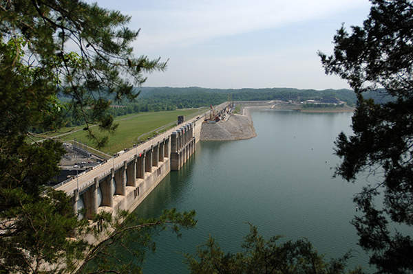 Wolf Creek Dam is located on the River Cumberland and creates Lake Cumberland. Image courtesy of USACE.