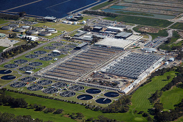 The Eastern Treatment Plant is the largest ozone and UV production facility of its kind in the Southern Hemisphere. Image courtesy of UGL.