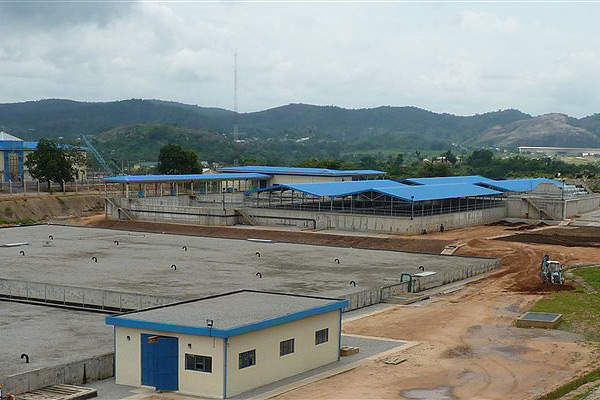 Lower Usuma Dam Water Treatment Plant (phase 3 and 4) came online in September 2013. Image courtesy of Biwater.