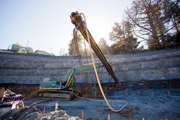 Construction activities in progress for the new treated water reservoir. Image courtesy Water System Improvement Program (WSIP) Peninsula.
