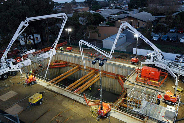 The Queensbury wastewater pump station upgrade was initiated in January 2013. Image courtesy of SA Water.