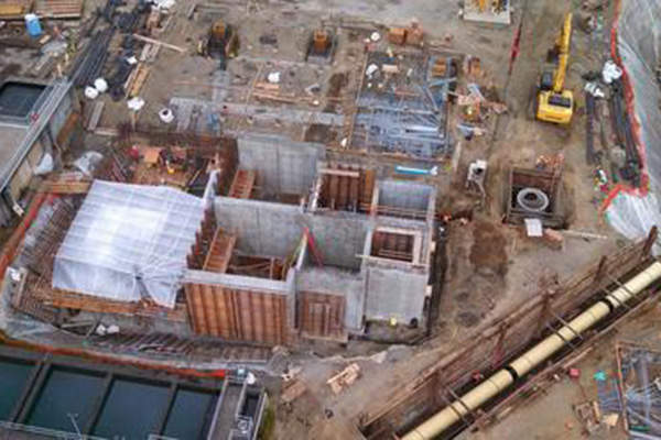 An aerial view of the Lake Oswego Water Treatment Plant, which is being upgraded in a $250m project.