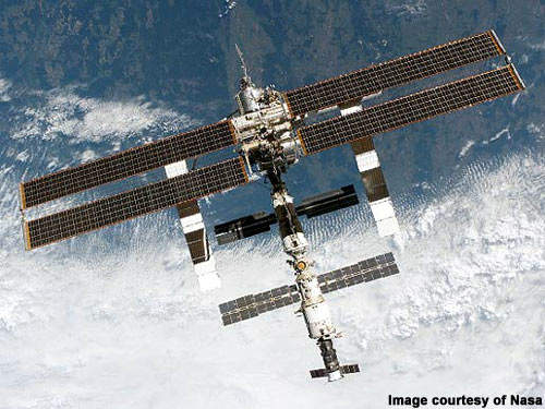 The International Space Station – a collaborative venture involving 16 nations. The new water reclamation system will enable the crew to be doubled.