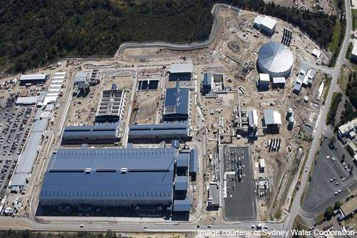 Kurnell desalination plant is located in south Sydney, New South Wales (NSW), Australia.