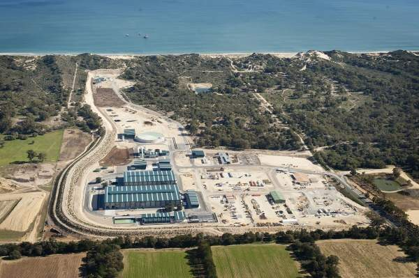 The Southern Seawater Desalination Plant (SSDP) is Western Australia's second major desalination project. The plant is located at Taranto Road, north of Binningup, approximately 150km south of Perth. Image courtesy of Water Corporation.