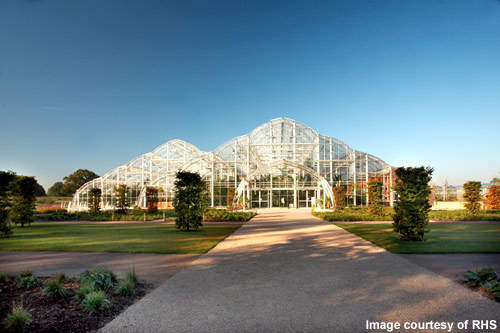 The Wisley glasshouse covers 3,000m² and stands 12m high.