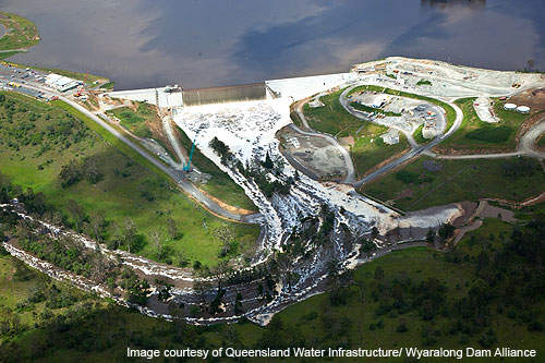 Wyaralong dam and Cedar Grove weir in conjunction can contain 103,000 million litres of water.