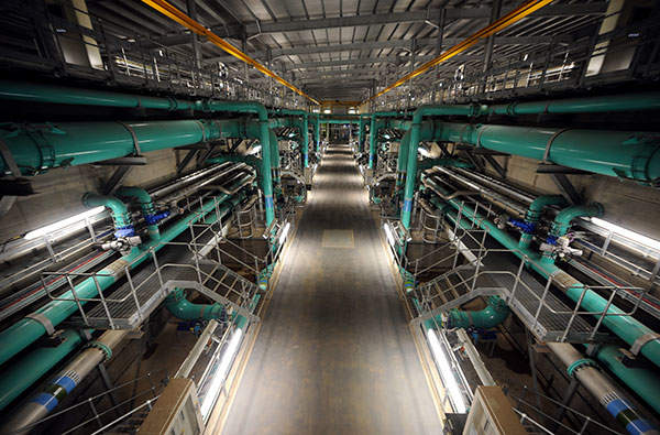 The daily water treatment capacity of Scottish Water's new plant is 175 million litres. Image courtesy of Scottish Water.