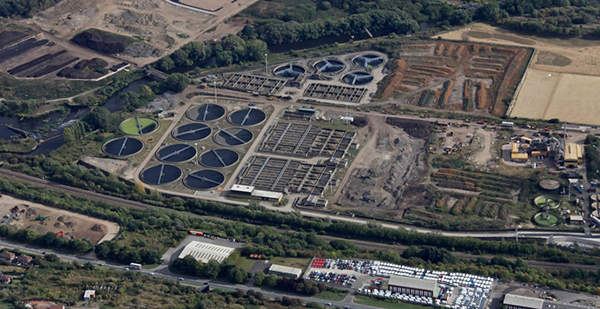 The Blackburn Meadows wastewater treatment plant is located on a 78 acre site which falls under the jurisdiction of Yorkshire Water. Image courtesy of AECOM Technology Corporation.