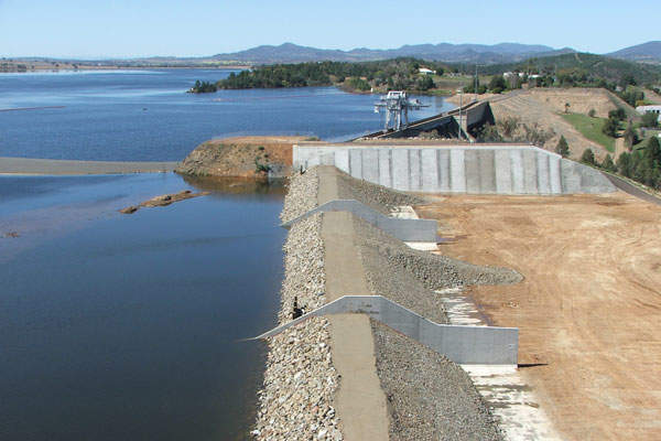 Package 1 of the Keepit dam safety upgrade project was completed in November 2011. Image courtesy of State Water Corporation.
