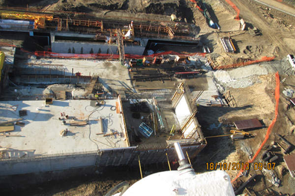 Construction of the South Fork WTP started in May 2013.  Image courtesy of City of Nanaimo.
