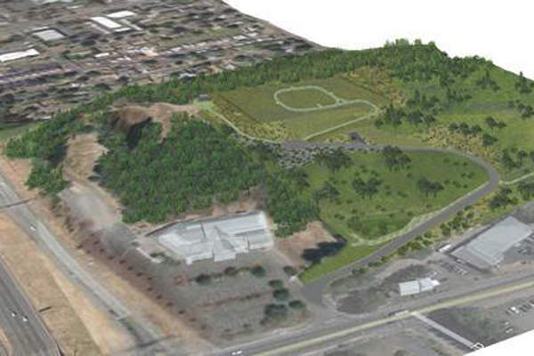 Artist's rendition of the Kelly Butte Replacement Reservoir. Image courtesy of City of Portland, Oregon.