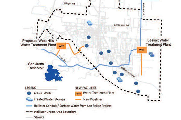 The Hollister Urban Area Water Project is being developed in San Benito County, California, US. Image courtesy of Hollister Water Improvement Project.