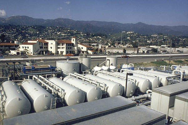 The Charles E. Meyer Desalination Plant will be reactivated to mitigate the drought crisis in California. Image: courtesy of IDE Technologies.