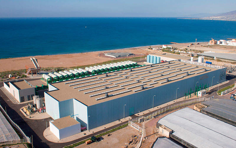 The Campo de Dalías desalination plant, commissioned in 2015, is one of the biggest desalination plants in Europe.  Photo courtesy of Veolia Technologies.