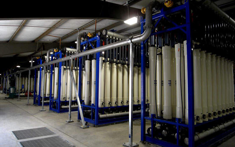The Clifton water treatment plant comprises eight ultra-filtration skids. Image: courtesy of H2O Innovations.