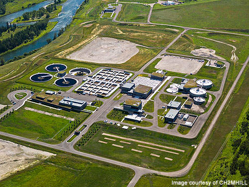 Pine Creek WWTP is the most technologically facility in Canada.