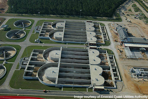 The CWRF is equipped with four biological nutrient removal tanks.