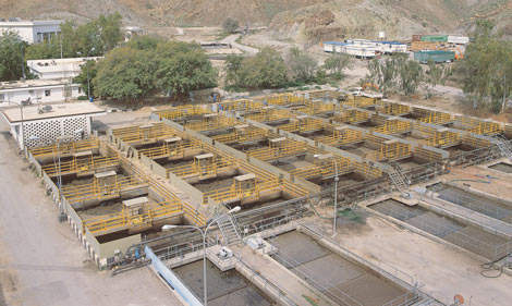 Work in progress to upgrade and rehabilitate the Darsait WWTP – part of phase one of the Muscat wastewater project.