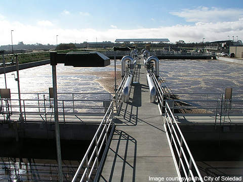 It is one of two wastewater plants in the city.