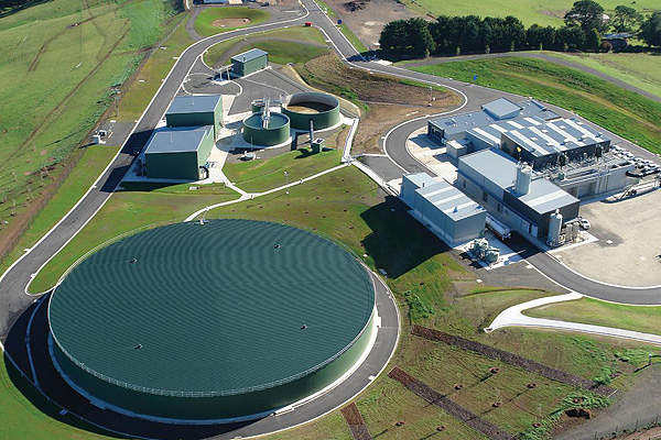 The upgraded treatment plant has a treatment capacity of about 380 million litres on average and 700 million litres at its peak. Image courtesy of Skinner Engineering.