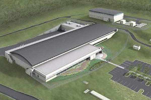 Architectural rendering of the world's biggest UV treatment facility.