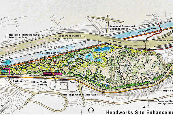 Image showing the site enhancement plan. Image courtesy of Los Angeles Department of Water and Power.