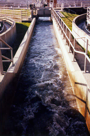 The United Water New York wastewater trough.