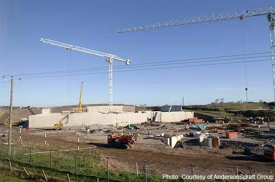 Work underway on the North Down/Ards plant at Donaghadee.