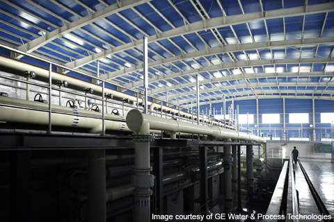 The Qinghe wastewater treatment plant is equipped with  ZeeWeed membranes.