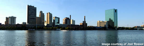 The Toledo skyline: the $450m Toledo Waterways Initiative is a 15-year scheme to upgrade and improve the city's ageing facilities.