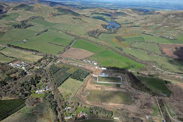Aerial view of Glencorse Water Treatment Works project. Image courtesy of Scottish Water.