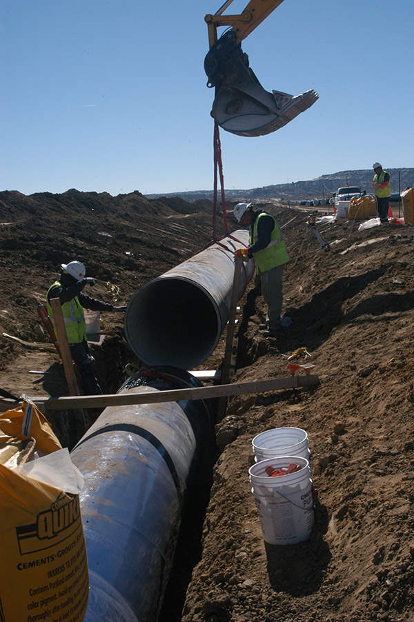 The 45-inch diameter pipeline will cover about 280 miles (450.6km). Image courtesy of US Bureau of Reclamation.