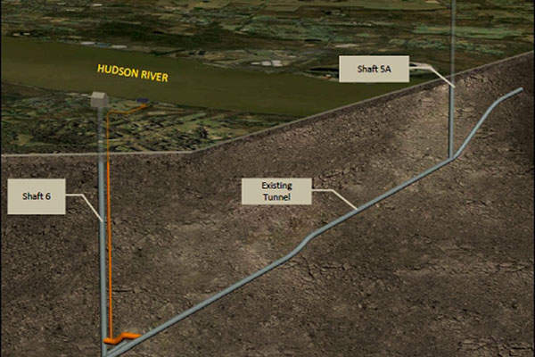 A 3D rendering of the existing tunnel. Image courtesy of New York City (NYC) Department of Environmental Protection (DEP).