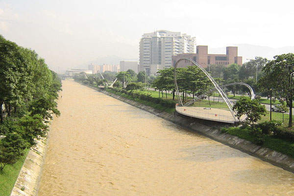 Bello Wastewater Treatment Plant forms part of the Medellin River Sanitation Program.  Image courtesy of Jorge Gomez.