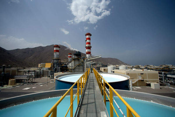The desalination plant at Fujairah is one of the biggest RO desalination plants in the Middle East.