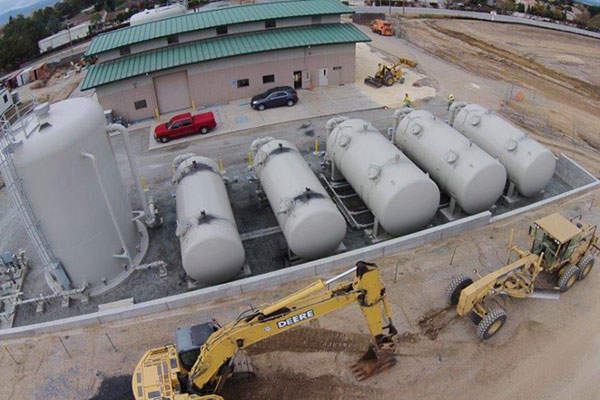 Upgradation works on the Lessalt Water Treatment Plant were completed in January 2015. Image courtesy of Hollister Water Improvement Project.