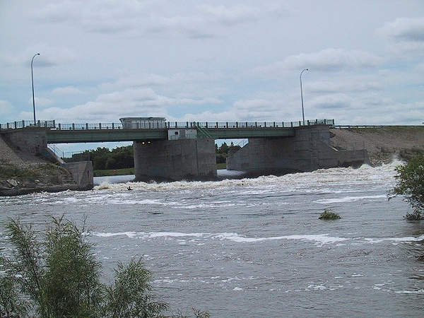The inlet control structure was upgraded as part of the floodway's expansion.