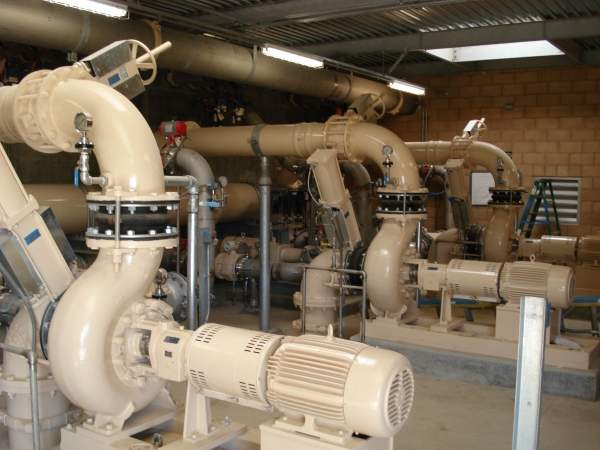 The plant technology maximises energy efficiency. An interior photo of the plant's pump house is shown here. Image courtesy of American Water.