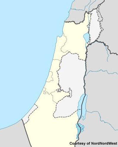 The plant is located on the Mediterranean coast 50km north of Tel Aviv.