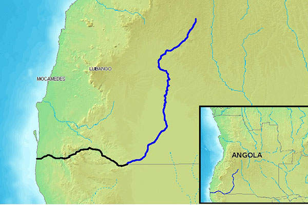 The plant treats water from the Cunene River in Angola.