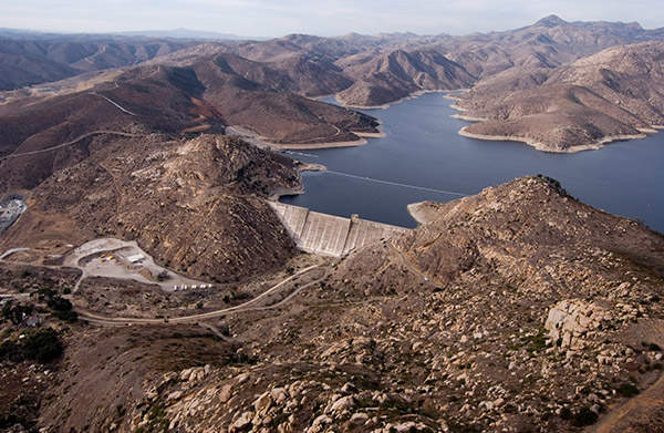 San Vicente Dam was constructed in 1943. Image courtesy of MWH Global.