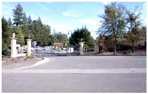 The entrance to Orinda WTP; this plant is the largest of the six, with a daily capacity of 755,000 cubic meters.