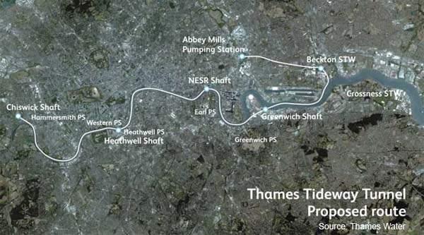 Thames Tideway Tunnels Project London Uk Water Technology