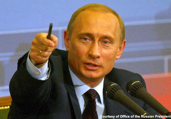 Vladimir Putin; a St Petersburg native.