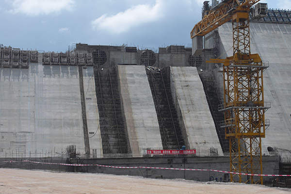 The construction of Ghana's Bui Dam was started in 2007. Image courtesy of ZSM.